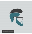 icons hairstyles beard vector image vector image