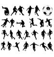 football players 3 vector image