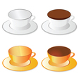 cup white and orange for coffee vector image