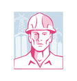 Construction Engineer Worker Hardhat vector image