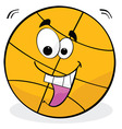 cartoon basketball vector image vector image