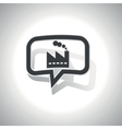 Curved factory message icon vector image