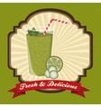 fruit smoothie design vector image
