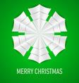 Snowflake Corner paper 10 vector image