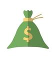 Bag money dollar cash flat icon vector image