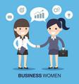 businesswoman shaking hands vector image