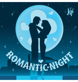 Dating on the roof vector image