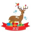 flat deer 2017 vector image