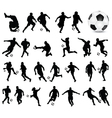 football players 3 vector image