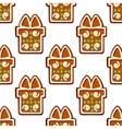 Gingerbread gifts and presents seamless pattern vector image