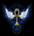 Gold ankh vector image