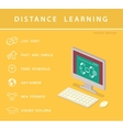 Isometric education infographic vector image