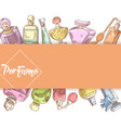 perfume bottles hand drawn doodle vector image
