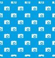 retro camera pattern seamless blue vector image