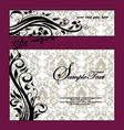 Purple Swirls Frame Wedding Invitation vector image vector image