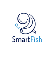 Fish abstract design logo template vector image vector image
