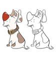 cute hunting dog cartoon charac vector image vector image