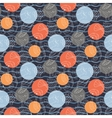 Marine pattern with polka dots vector image