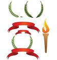 ribbons and laurels vector image