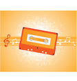 musical composition with audiocassette vector vector image