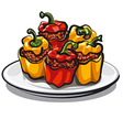 stuffed bell peppers vector image