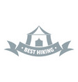 best hiking logo vintage style vector image