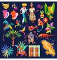 Caribbean island icon set vector image