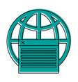 earth globe diagram communication icon image vector image