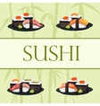 Japanese food - sushi template vector image