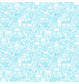 line household white seamless pattern vector image