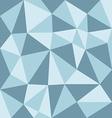 low polygon blue tone vector image
