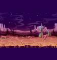 seamless desert night horizontal landscape vector image