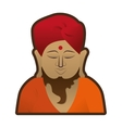 head buddha meditation religion indian symbol vector image