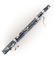 Classical bassoon vector image