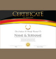 certificate or diploma germany flag design vector image