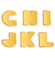 letters of cracker biscuits vector image