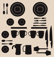 Kitchen utensils and tool icon set vector image