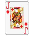 Jumbo index jack of diamonds vector image vector image