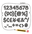 Cartoon Doodle Numbers vector image vector image