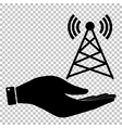 Antenna sign Flat style icon vector image