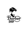 barbershop beard mustache head icon vector image