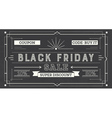 Black Friday Sale Retro Background Coupon Template vector image