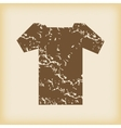 Grungy t-shirt icon vector image