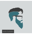 icons hairstyles beard vector image