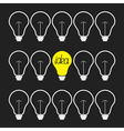 On and off light bulb set Idea concept Flat design vector image