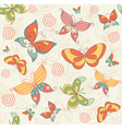 Seamless Summer Background with Butterflies vector image