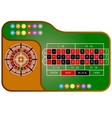 Tables American Roulette vector image