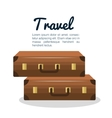 travel suitcase vacation design vector image