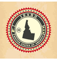 Vintage label-sticker cards of Idaho vector image