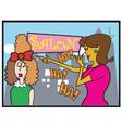 Ladies at the hair salon vector image